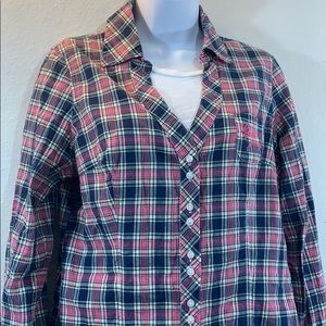 5 for 25 Guess Jean pink plaid/flannel shirt